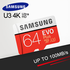 Free Shipping SAMSUNG Memory Card EVO Plus 64GB Class10 TF Card 64 G Micro SD card C10 microSDXC microSD UHS-I U3
