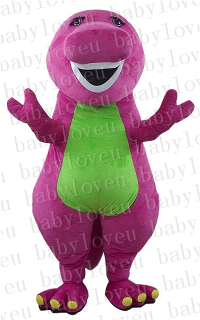 Polyfoam Hoge Kwaliteit Kostuum Paars Dinosaurus Mascotte Kostuum Barney Kostuums Costume Tie Costume Gallery Costumescostum Jewlery Aliexpress