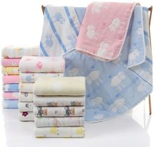 Одеяло детское из дышащего муслина 6 слоев 110x110 см
