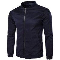 Hombres de la chaqueta de 2017 Nueva Chaqueta Para Hombre de Moda Abrigos de Vestir Exteriores de la Cremallera Azul Marino Chaqueta Para Los Hombres jaqueta masculina Más El Tamaño M-5XL