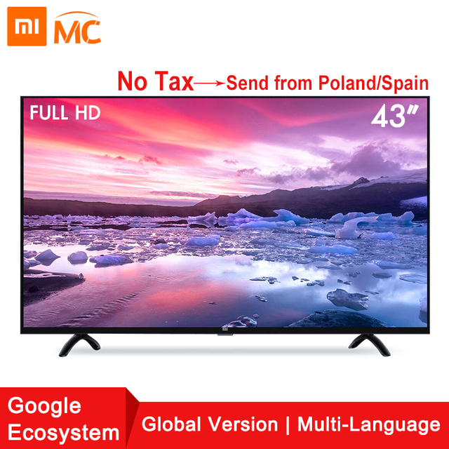 Xiaomi Smart 4A 43inches Mi LED Full HD Android TV 8.0 4A 108 cm Ultimate PatchWall 1GB 8GB Ultra-bright LED Display Television