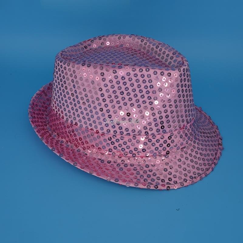 1dd8bdf2c5b Children Boys Girls Sequins Jazz Hat Glitter Trilby Dance Hats Cap  Children s Day Performance Show Wear Party Halloween-in Boys Costume  Accessories from ...