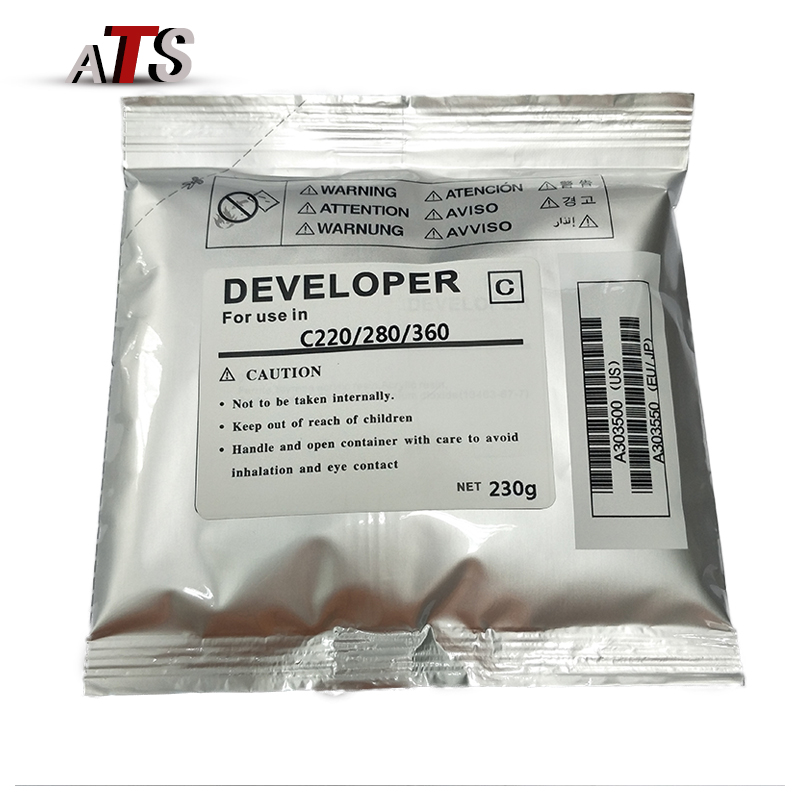 C220 encaixe de fotocopiadora Desenvolvedor Pó Para Konica Minolta 280 360 224 284 454 554 221 353 Desenvolvedor Pó de Toner copiadora partes