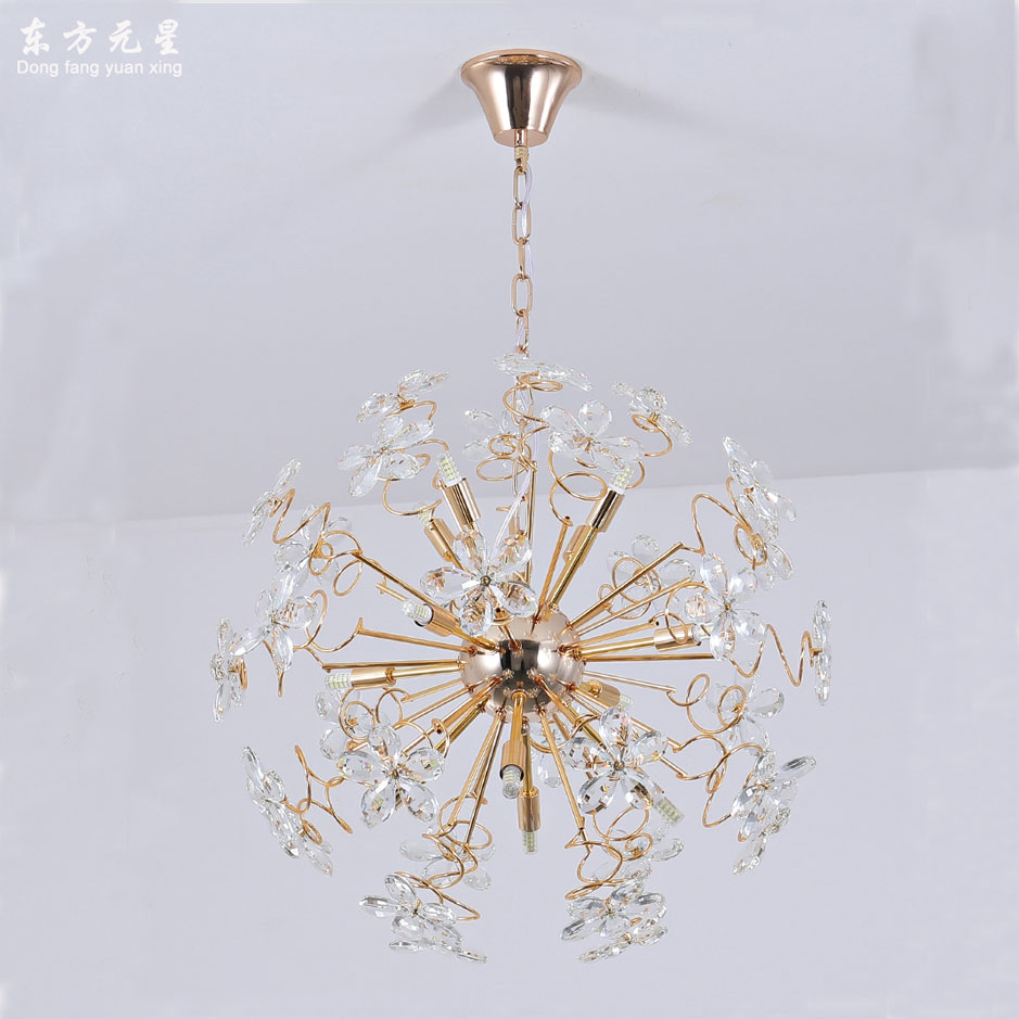 Cristal levou luz do candelabro lâmpada faísca bola dandelion sala de jantar sala de loja de roupas mostrar janela decorativa pendurar lightin - 3
