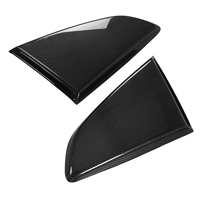 1Pair Carbon FiberSide Window Air Inlet Scoop Louver Covers Vent R Style for Mustang 2015 2017
