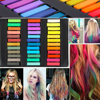 1set 36 Colors Non Toxic Temporary Pastel Hair Square Hair Dye Color Chalk Free Shipping