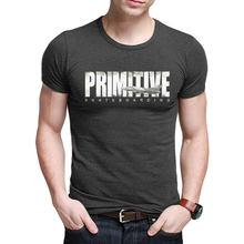 09f11944dffae 2018 Streetwear Casual Camisetas de Algodão das camisas de Manga Curta t  Homens Primitivos Moda Estilo