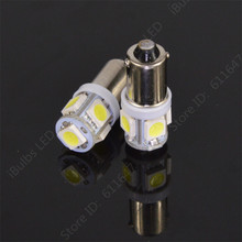 10pcs High Quality BA9S 434 T4W 5 LED 5050 SMD H6W Car Auto Interior Reading Lights Dome Lamp DC 12V(China)