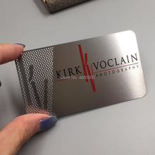 OEM Custom Design Logo Engraved Metal Card, Personalized Business Card
