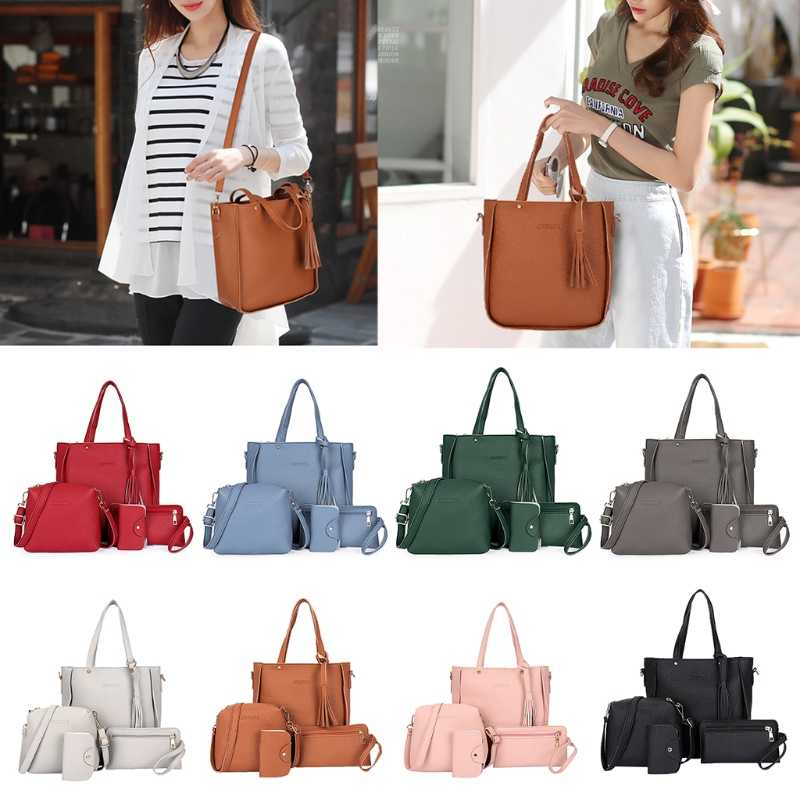 977430171a1ab ... Для женщин женская модная сумка-клатч Сумки На Плечо Tote кошелек сумка  мессенджер Набор сумок ...