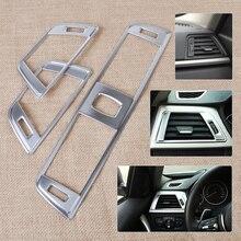 Beler набор из 3 предметов, серебристая хромированная накладка на вентиляционное отверстие для приборной панели, отделка для автомобиля, украшения для BMW 3 серии F30 2013