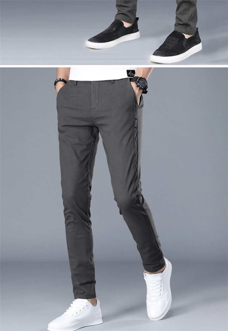 Mens Casual Athletic Fit Tapered Chinos Pants 3
