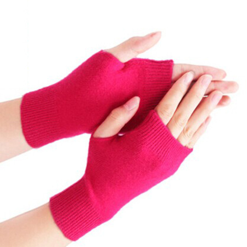 Fashion Women's Cashmere Blend Gloves Winter Female Knitted Mittens Warm Chinese Style Design Solid Ladies Knitwear Wrist Gloves