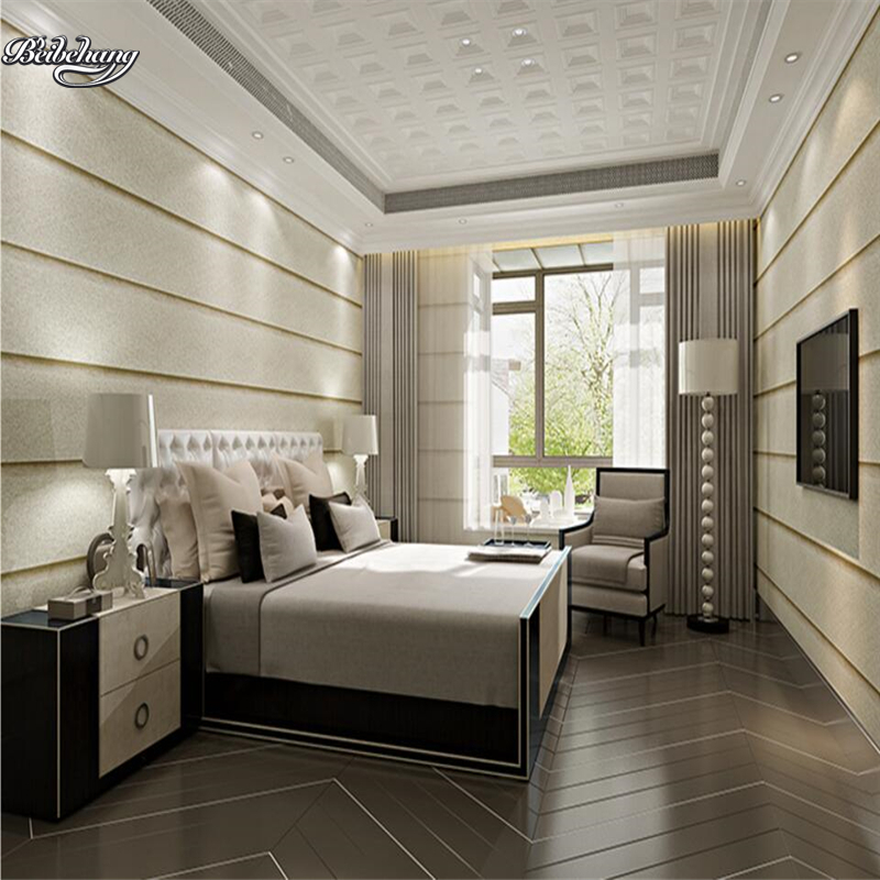 beibehang 3D Stereo Living Room Wallpaper Imitation Marble Striped TV Background Wallpaper Nonwovens Bedroom Simple beibehang nonwovens healthy fashion