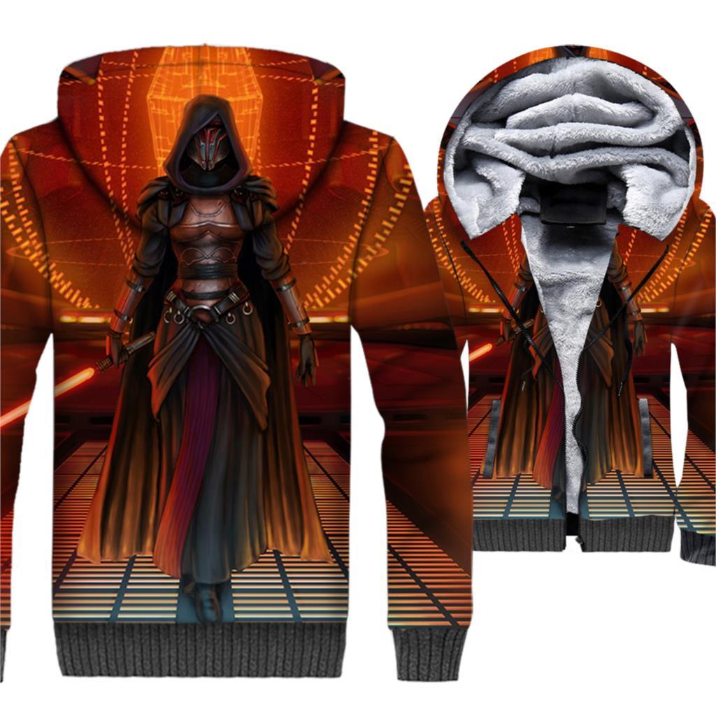 Star Wars Jackets Men The Darth Face Vader 3D Hoodies StarWars Hooded Sweatshirts Hipster Winter Thick Fleece Warm Zipper Coat