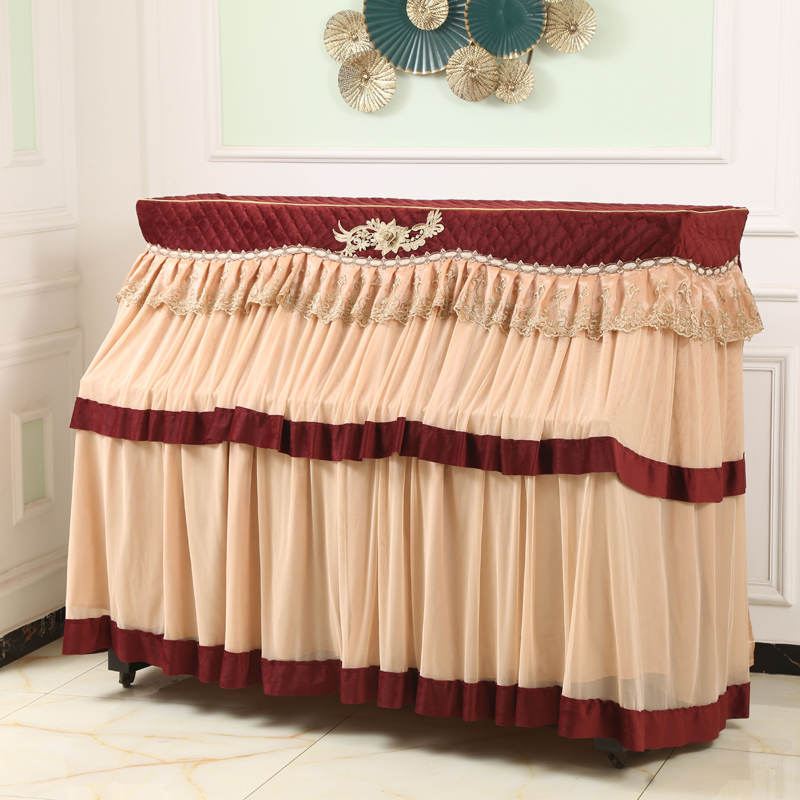 JaneYU European Piano Cover High grade Lace Cloth Full Cover Modern Simple Piano Dust proof Bench Cover Piano Cloth Cover in Piano Covers from Home Garden