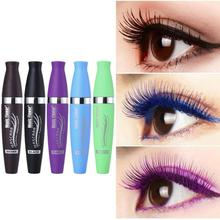 New Colorful Mascara Purple Waterproof Non-dizzy Dyeing Easy To Color Blue Smudge-proof Eye Makeup