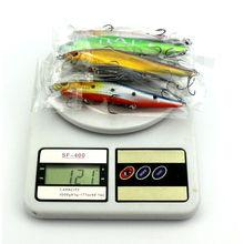 1Pcs Minnow Fishing Bass Diving Crankbait Fishing Lures Minnow Treble Hooks Baits 14 cm  23 g