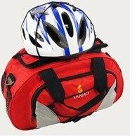 Waterproof Bike Cycling Bicycle Rear Seat Trunk Bag Handbag Pannier Black Red Blue Yellow Freeshipping Pannier