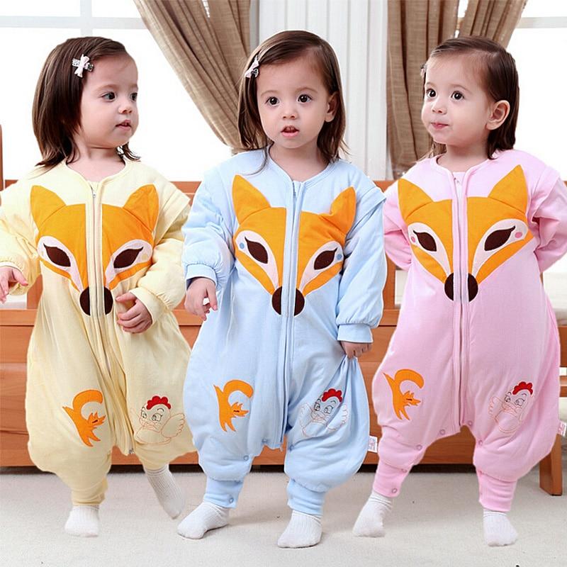 2016 Fashion Infants Kids Cartoon Baby Sleeping Bag Newborn Cotton Spring and Autumn Baby Sleep Sack