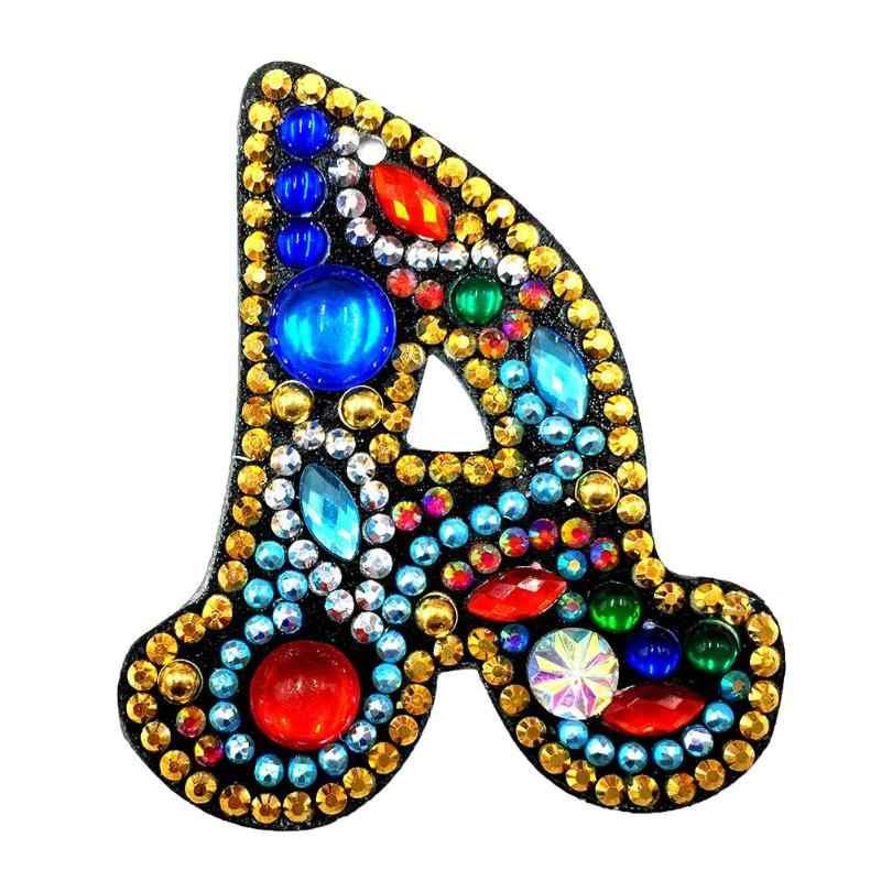 Самодельный брелок, алмазная живопись, буквы, Женская девочка, брелок-подвеска, подарок, специальная форма, набор для начинающих Алмазная вышивка, вышивка крестиком WHH