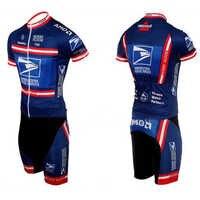 Servicio Postal del estado de los Estados Unidos ciclismo jersey montar bicicleta corta maillot deporte carrera ropa malla material 9D gel pad