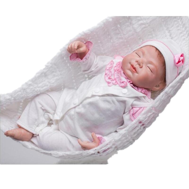 Silicone Baby-reborn 22inch Lovely Baby Girl Reborn Dolls Bonecas Bebe High Quality Children Birthday Gifts Juguetes Brinquedos