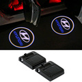 For Hyundai solaris accent i30 ix35 elantra gt santa fe tucson getz i20 sonata i40 coupe i10 i25 Car LED Door Logo Warning Light