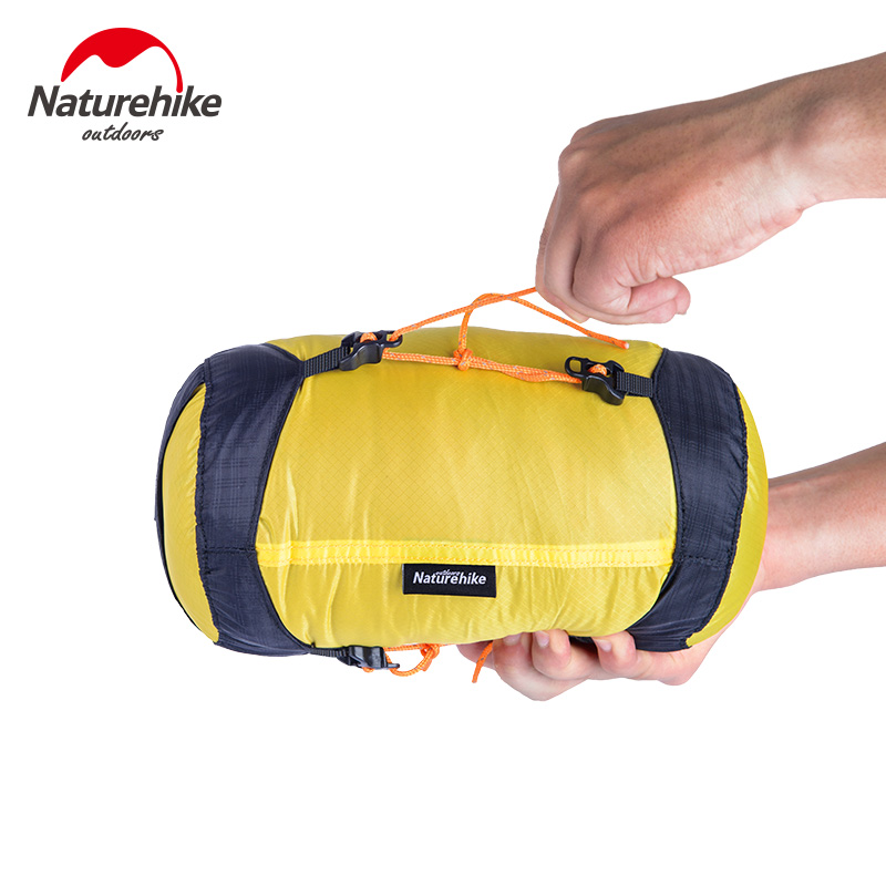 NatureHike Outdoor Camping Pack Compression Stuff Sack Bag 20D Nylon Silicon Waterproof Storage Carry Bag For Sleeping Bag M -XL