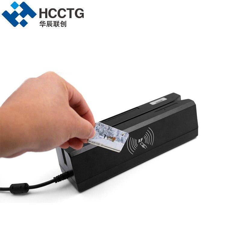 Lecteur de carte à puce magnétique et Support d'écriture IC & NFC & Mifare & MSR & RFID & carte Psam lire tout en un machine pour système bancaire HCC80 - 5