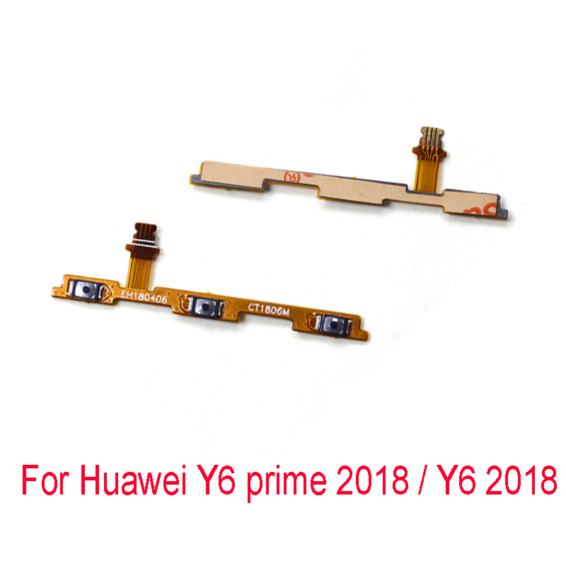 Power On Off Volume Up Down Switch Key Button Flex Cable For Huawei Y6 Prime 2018 / Y6 2018 / Honor 7A Replacement