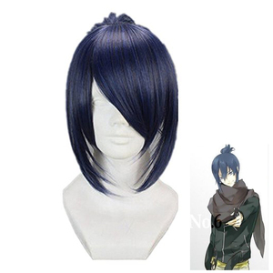 Future City No.6 Nezumi Short Ponytail Anime Cosplay Wigs Blue Grey Mix +Wig Cap(China)