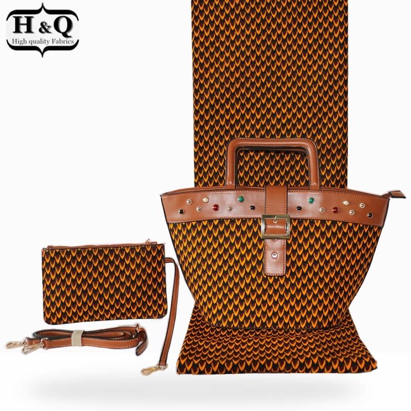 Fashion african wax bag sets african design 3 pieces set woman s wax handbag matching 6