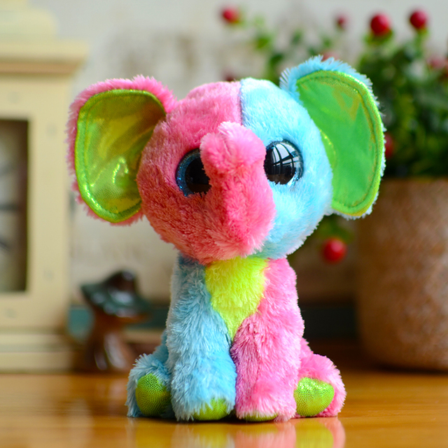 e4212c97afd Beanie Boos Kids Plush Toys Ty Big Eyes Elfie Pink green Elephant Girl  Gifts Kawaii Stuffed Animals Dolls Cute Christmas Present