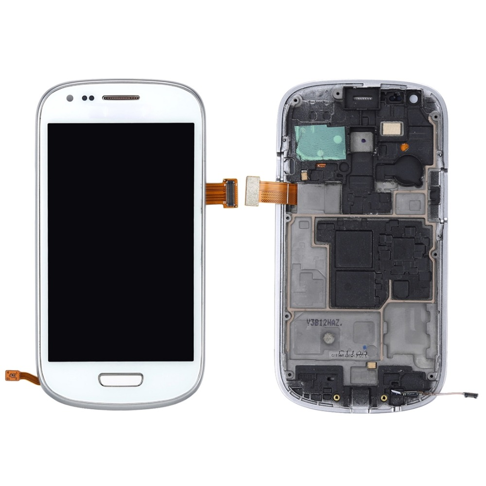 Original LCD Display + Touch Panel with Frame for Galaxy SIII mini / i8190 image