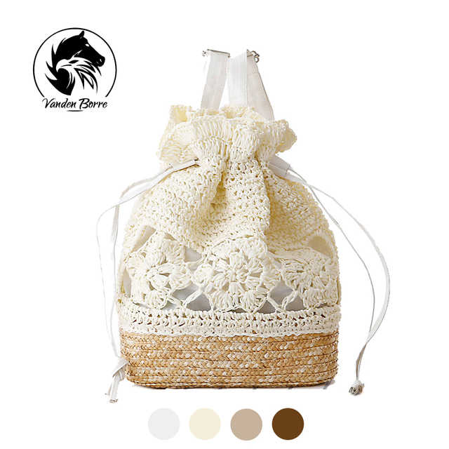 Fashion Summer Beach Bags Small Brand Bag Women Straw Bags Backpack For Lady/Famlae School bags For Students