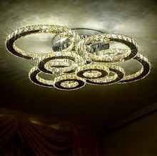 LED 20W Remote Control 8 Lights, Transparent Crystal Ceiling Lights with Led Free Shipping