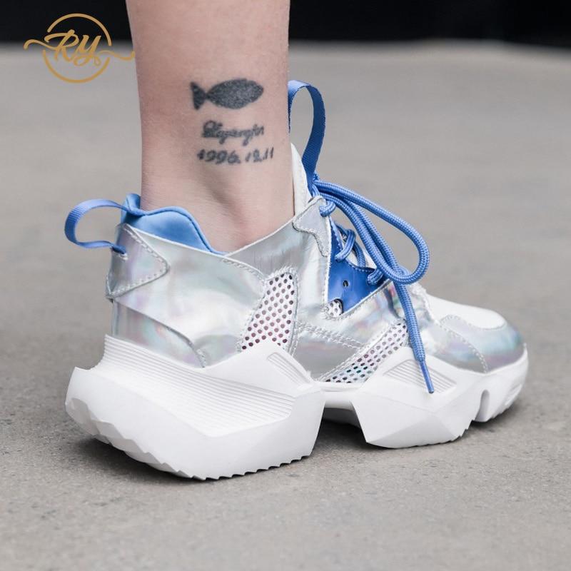 RY-RELAA femme chaussures baskets mode tenis feminino plate-forme haute super femmes chaussures décontractées chunky baskets femmes chaussures compensées