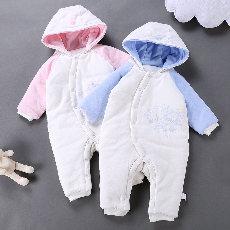 fe866eef264a High Quality Baby Winter Overalls Fashion Warm Newborn Romper Infant ...