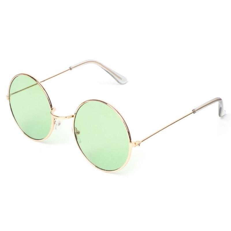 afd48df353e25 Rodada do vintage Óculos De Sol Mulheres Lente Espelho Óculos de Sol da Cor  Do Oceano Fêmea Design Da Marca Óculos de Armação de Metal Círculo Oculos  UV400 ...