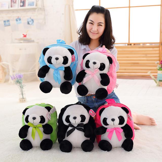 Atacado Venda Direta Da Fábrica Mochila Panda de Pelúcia para As Crianças Presentes de Aniversário 30 cm