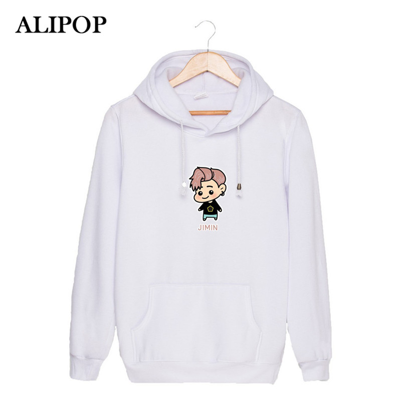 ALIPOP KPOP BTS Bangtan Boys WINGS Album YOU NEVER WALK ALONE Cartoon Cotton Hoodies Hat Clothes