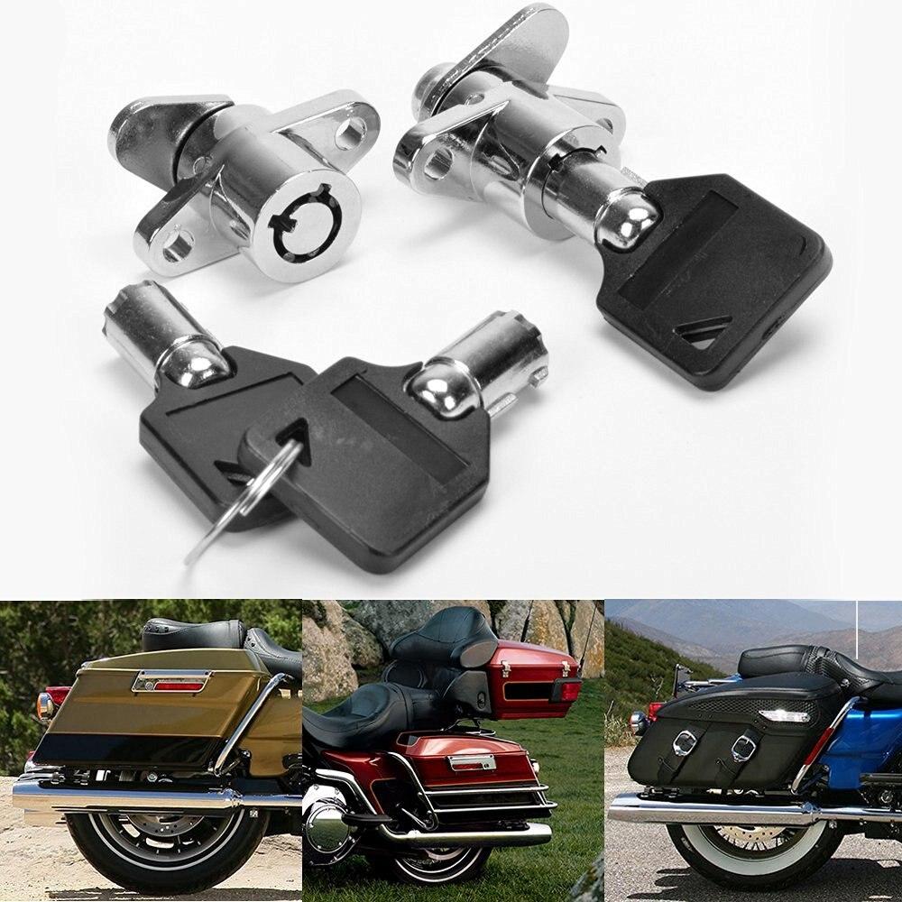 2x Chrome Steel Premium Hard Saddlebag Saddle Bag Lock For 1993-2014 Harley Touring Model Road King Electra Glide фен sinbo shd 7036 black