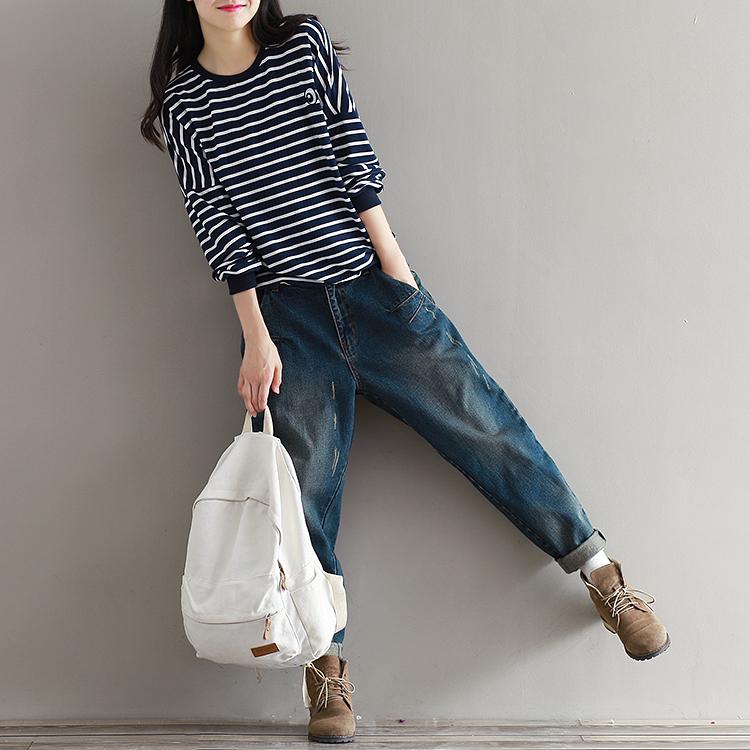 17 Winter Big Size Jeans Women Harem Pants Casual Trousers Denim Pants Fashion Loose Vaqueros Vintage Harem Boyfriend Jeans 12