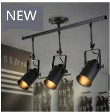 free shiping Loft vintage Industrial hotsale shop LED Ceiling lamp Single/Three heads