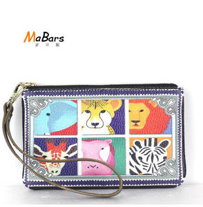 Flug Katze Coin Purses Leather Wallets women clutch bags 6981dc9e80