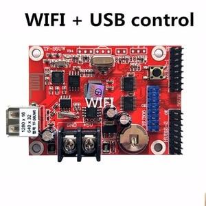 Image 1 - Asynchronous TF S6UW0 LED ป้าย WIFI การ์ดควบคุม, P10 P8 P5 P6 โมดูลแผงจอแสดงผล LED, เหมาะสำหรับเดี่ยวและคู่สี