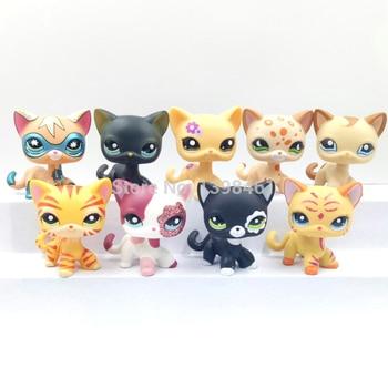 Rare Pet Shop Lps Toys Standing Black Short Hair Cat 994 White Pink