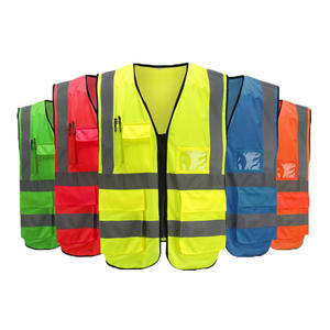 Visibility Reflective Vest Safety-Clothing Multi-Pockets Outdoor High-Quality Sports