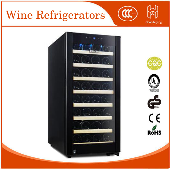 38 bottles 100L red wine cooler for hotel restaurant Glass Door Desktop wine fridger